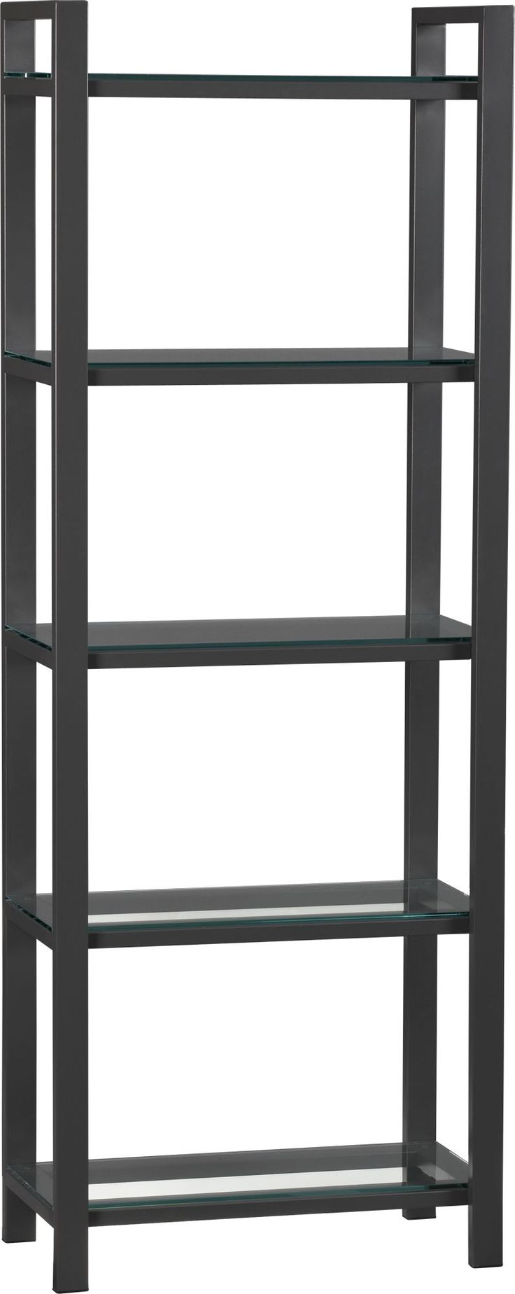 Pilsen Graphite Tall Bookcase  | Crate and Barrel