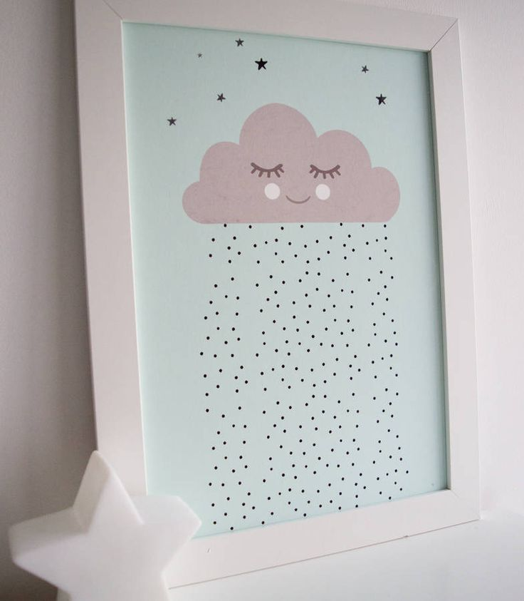 Sleepy Cloud Children's Print