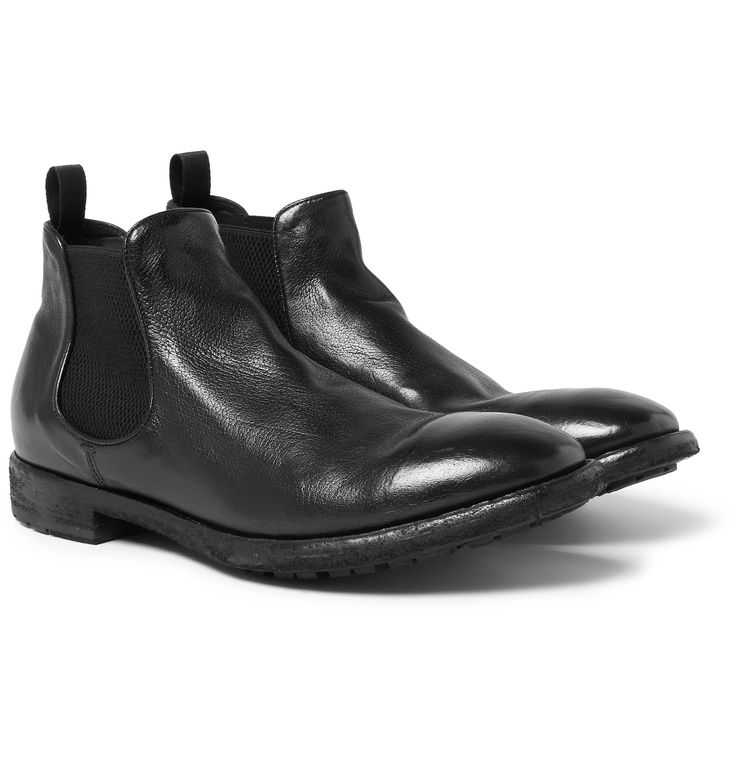 <a href='http://www.mrporter.com/mens/Designers/Officine_Creative'>Officine Creative</a>'s 'Princeton' boots have been made entirely by hand in Italy – a testament to the brand's commitment to fine craftsmanship. This polished black leather pair is thoughtfully detailed with pull tabs and elasticated sides to ensure they slip on easily and fit comfortably. The soles are panelled with grooved rubber for enhanced traction an...
