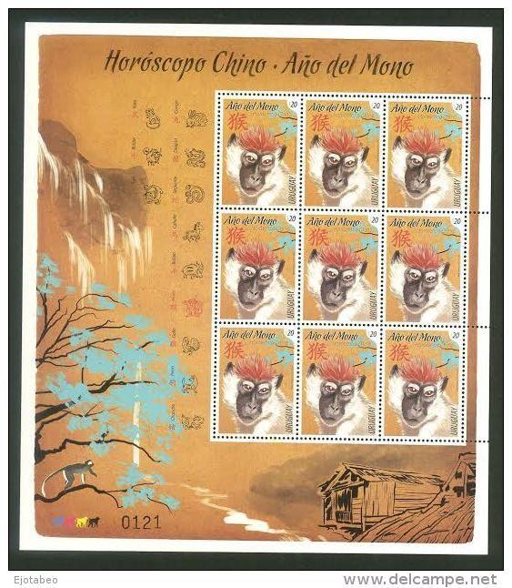 URUGUAY 2016 Año del Mono,Calendario Chino,Animales ,Árboles,Horócopo - Delcampe.es