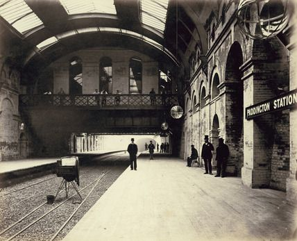 The completed interior of Paddington Station, c 1868