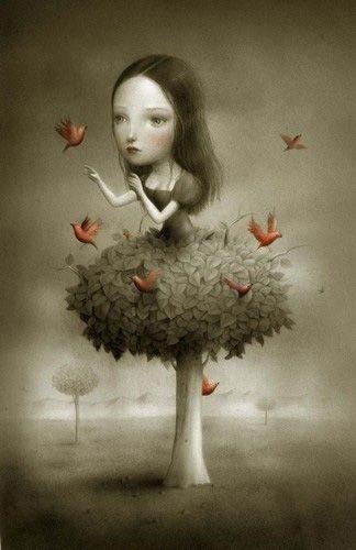 Girls And Birds Artwork Google Search Cool Stuffgifts Kunst