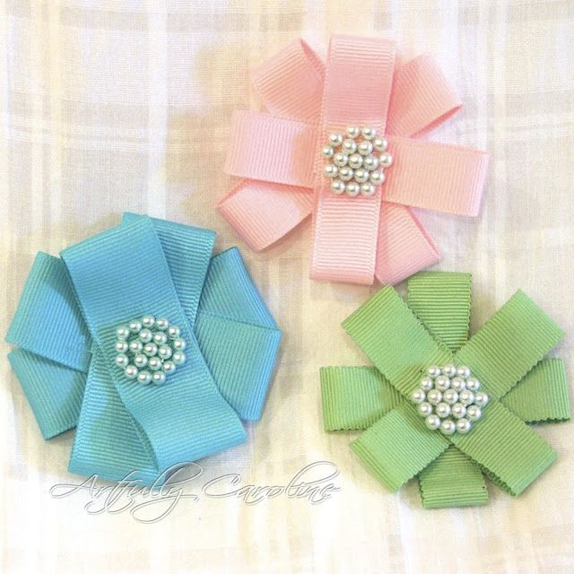 Good Ribbon Flowers Tutorial Make With How To Handmade From Step By