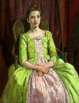 Vanessa Bell's portrait of her granddaughter Henrietta.