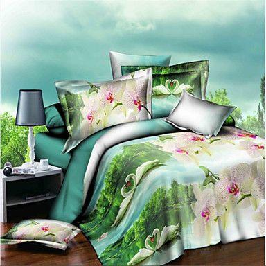 Bedtoppings+3D+prints+Duvet+Cover+4PCS+Set+–+USD+$+38.99