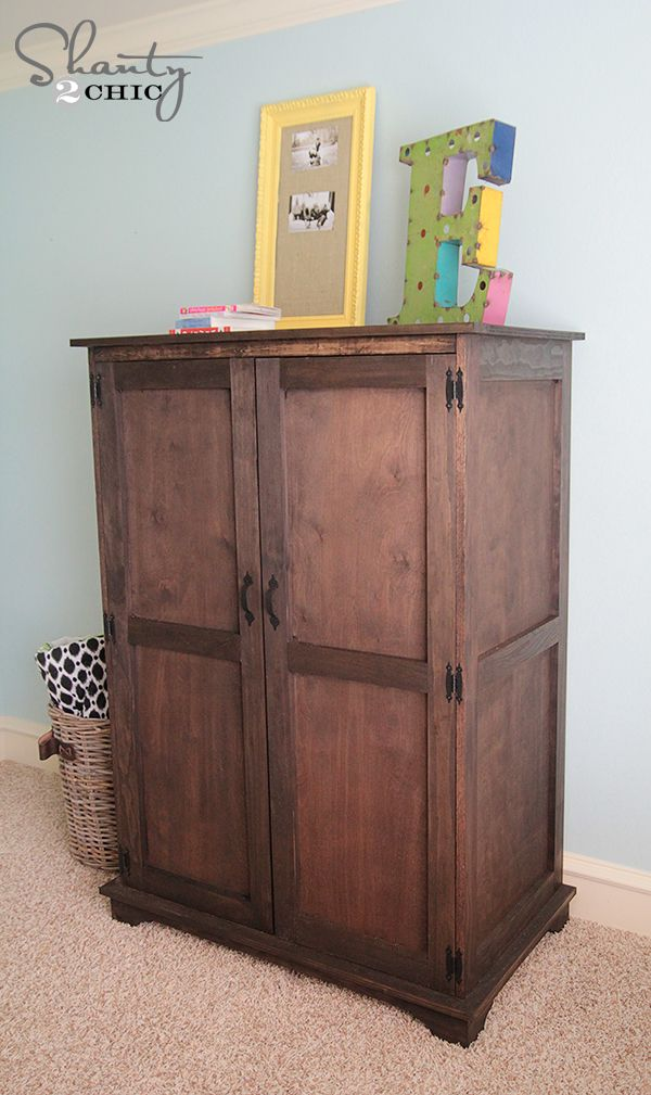 Pottery Barn Inspired Armoire Free Plans Paint Colors Pottery And Armoires