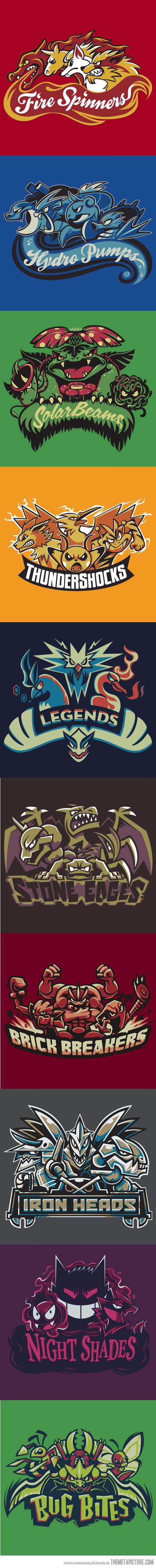 Pokémon as sport teams…Version 2