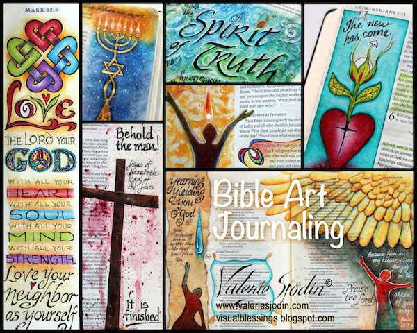 visual blessings: Bible Journaling Video: no-bleed-thru, wrinkle-free! Plus a Look Inside my Journaling Bible