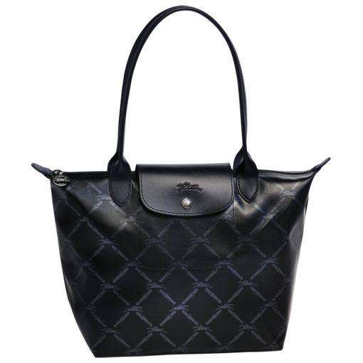 Longchamp LM Metal Tote Bags Black
