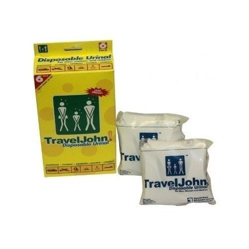 Disposable Urinal Camping TravelJohn 6 Pack Men,Women & Children FREE SHIPPING