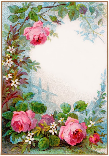 Beautiful Roses stationary.  Free Printable