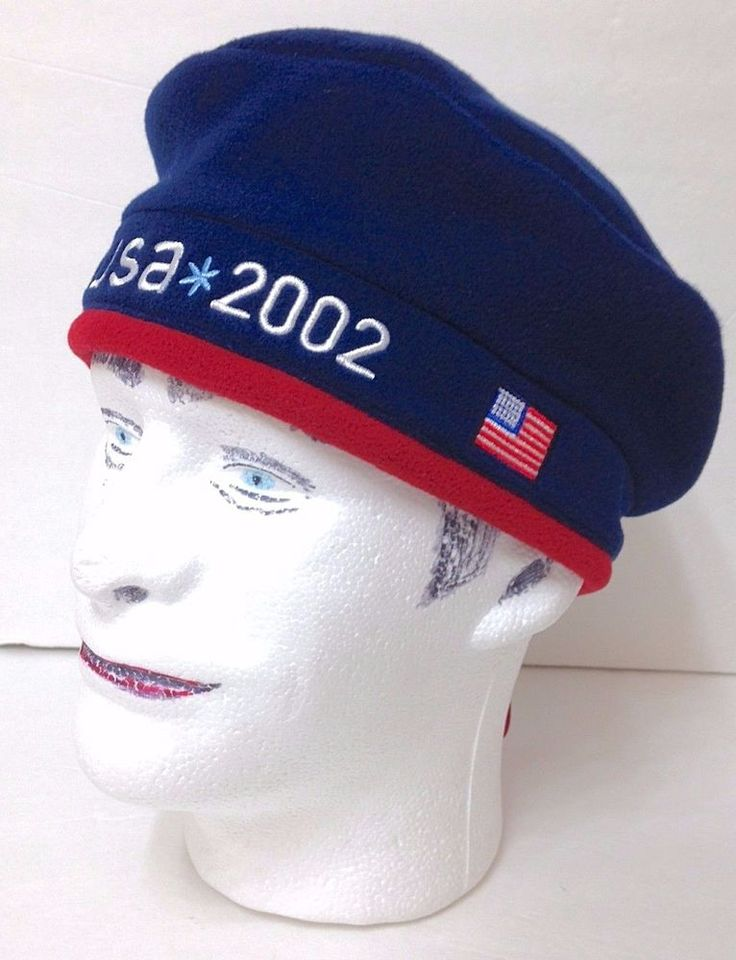 NWT Vtg 2002 ROOTS USA OLYMPIC TEAM BERET-STYLE WINTER CAP Beanie Men/Women OSFM #Roots #USA