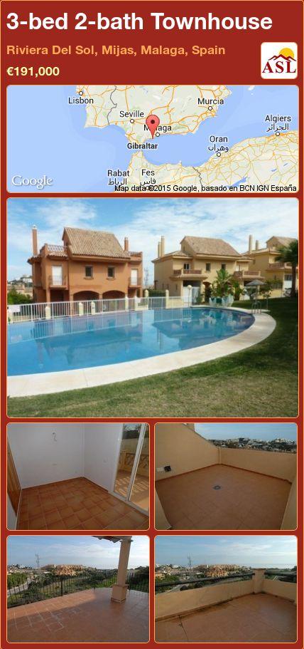 3-bed 2-bath Townhouse in Riviera Del Sol, Mijas, Malaga, Spain ►€191,000 #PropertyForSaleInSpain