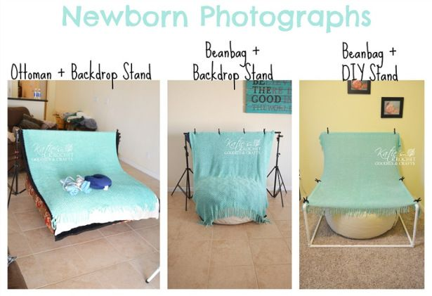 Newborn Posing Beanbag & PVC Beanbag Stand DIY
