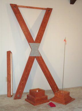 "<p class=""MsoNormal"">Hide this beautiful St. Andrew's Cross in plain sight, almost anywhere in your home.  This full size cross converts to a pedestal in about 5 minutes with no tools.  Put a plant on the Pedestal, some knick-knacks on the shelf, and you have the ultimate in space-saving discretion.</p>"