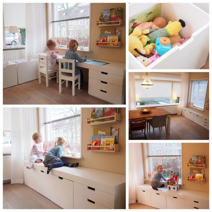 Kids desk and play area