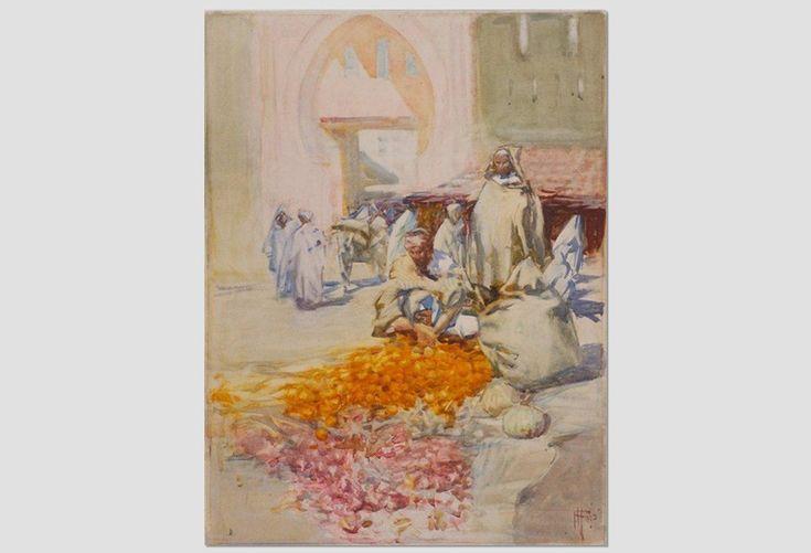 'The Orange Seller, Tangier' by Frances Hodgkins.