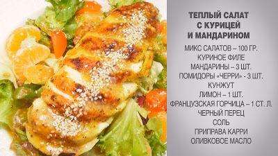 Вкусные домашние рецепты: Теплый салат / Теплый салат с курицей / Салат с ку...