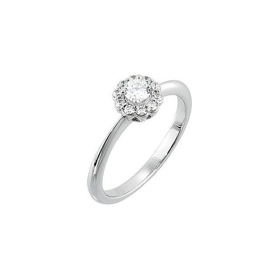 Solitaire Style Diamond Engagement Ring by RighteousRecycling