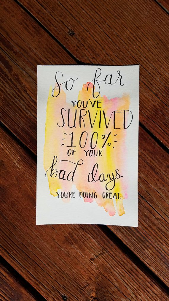 Watercolor Calligraphy Quote by KingsleyDesignStudio on Etsy