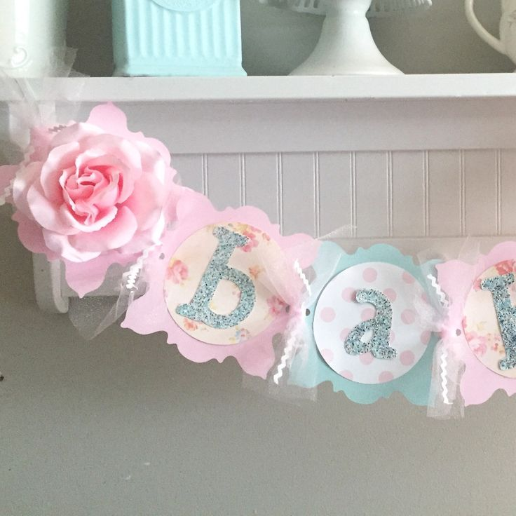 Shabby chic baby shower banner!