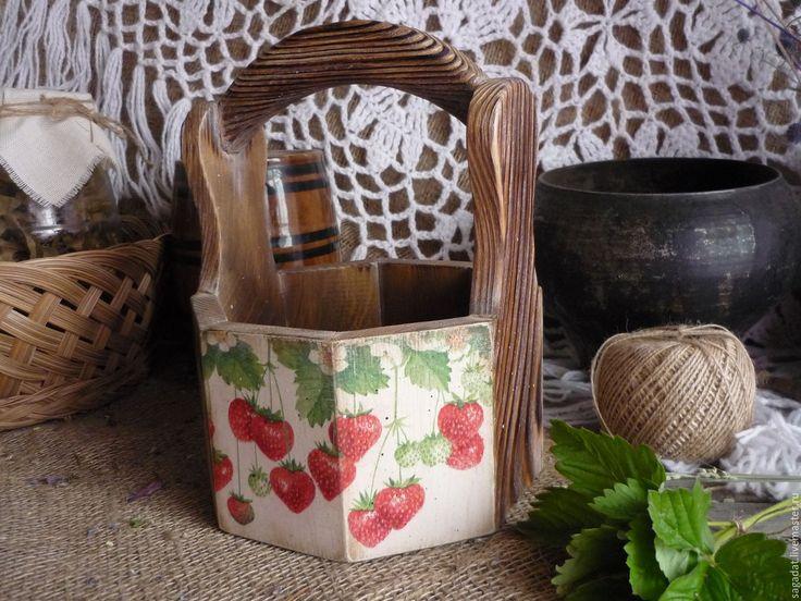 Купить Лукошко ,,Лесные ягоды,, - комбинированный, лукошко, корзина, корзинка, деревянная, посуда, коробка, короб