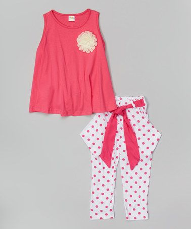 Look what I found on #zulily! White & Pink Dot Swing Tank & Pants - Infant, Toddler & Girls #zulilyfinds