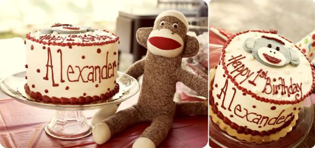 Entire sock monkey themed party.
