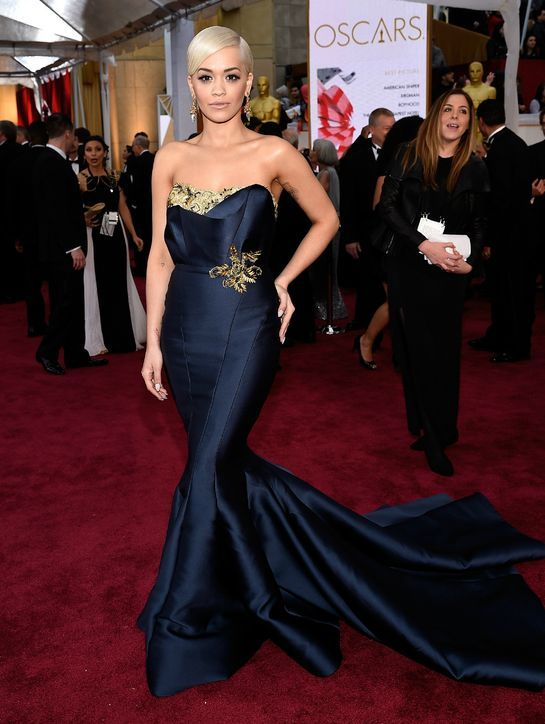 Rita Ora in Marchesa at the 2015 Oscars