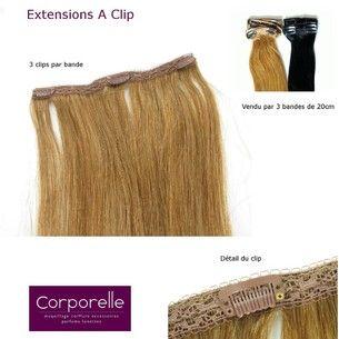 Fin de série extensions cheveux naturels Clip one3 | Extensions et rajouts cheveux