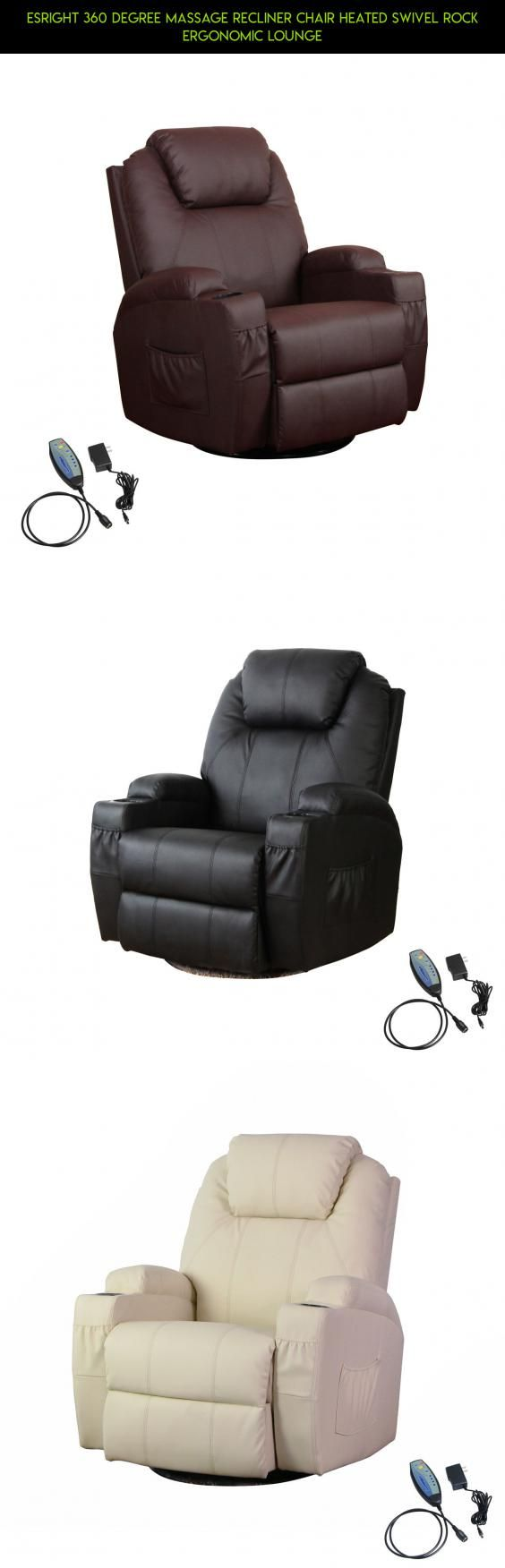 Esright 360 Degree Massage Recliner Chair Heated Swivel Rock Ergonomic Lounge #drone #plans #camera #rock #racing #technology #fpv #tech #kit #gadgets #products #shopping #parts #heating