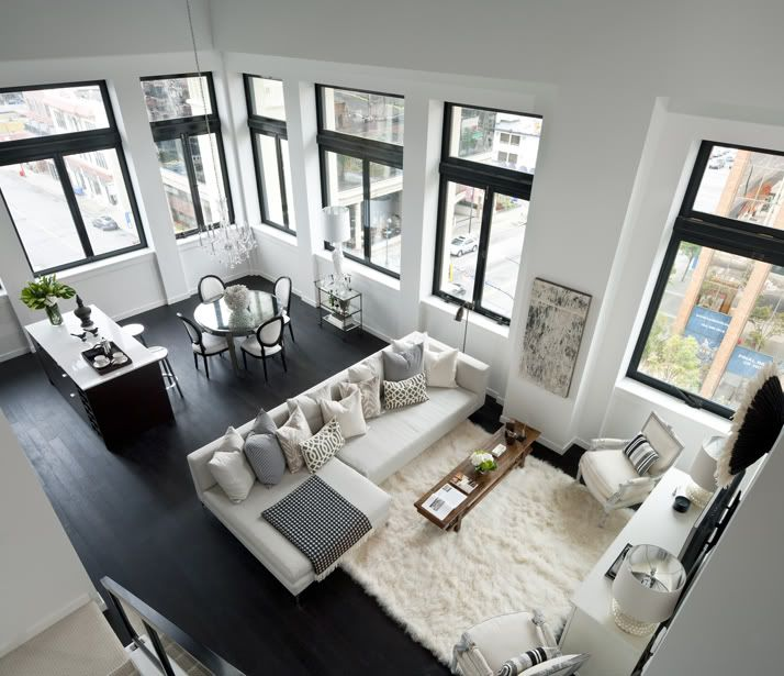 Fabulous black and white room!