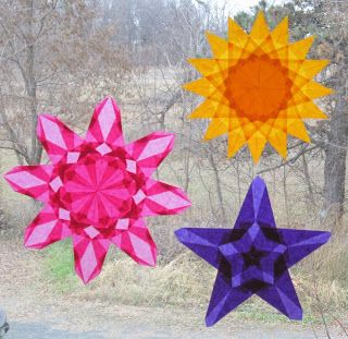 Harvest Moon by Hand: Waldorf Window Stars - Art Every Day Month - Days 19 and 20