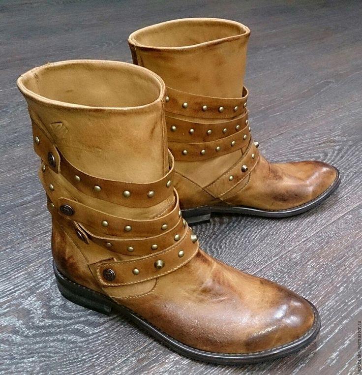 Купить Женские полусапожки - женские сапоги, женские полусапоги, натуральная кожа, красивая обувь