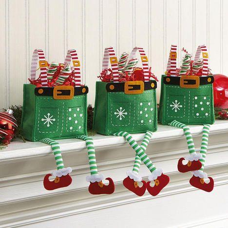 hermosas cajas duendes para dar un presente a los niños en navidad