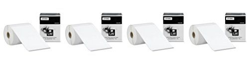 DYMO LW Extra-Large Shipping Labels tuqsce for LabelWriter Label Printers, White, 4'' x 6'', 4 Pack