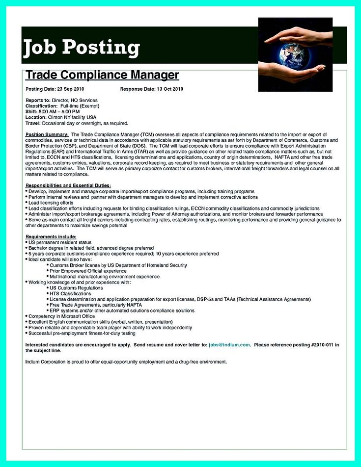 Best Compliance Officer Resume to Get Manager's Attention