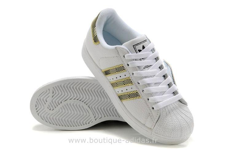 Adidas Original Blanc Et Or