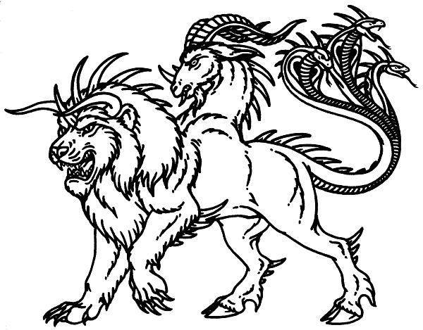 Ancient Greek Creatures And Monsters | Chimera from Greek mythology