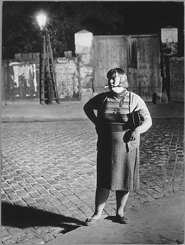Brassaï, Prostitute in the Quartier Italie, Paris, 1932.