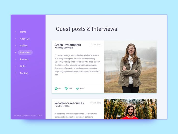 Interview page UI