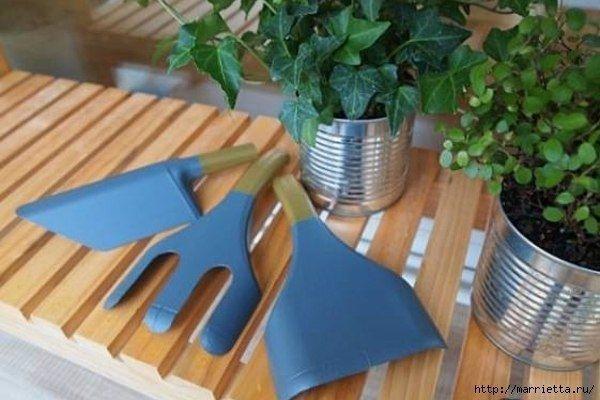 Садовые инструменты из пластиковых бутылок