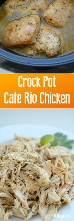 Crock Pot Cafe Rio Chicken | http://NoBiggie.net