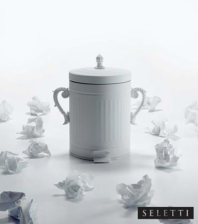 French Chic White Trash by Seletti available at  http://www.metropolitandecor.com/Seletti-Trash-Chic-White-MD-13438.html