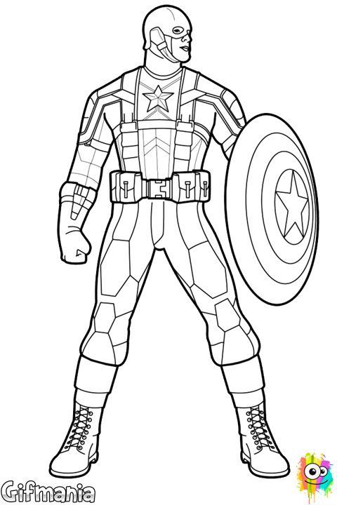 Iron Man Capitan America Para Colorear Imagui