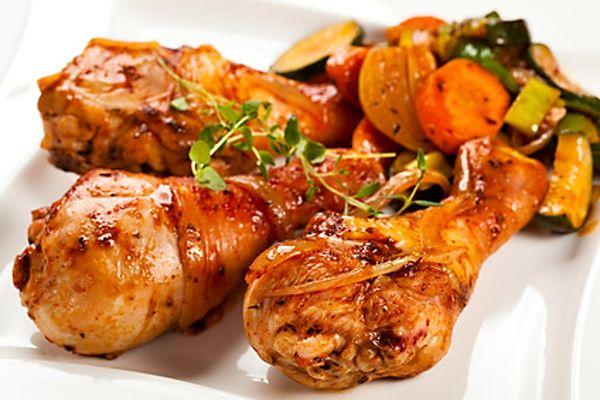 Recept na Lepkavá kuřecí stehýnka