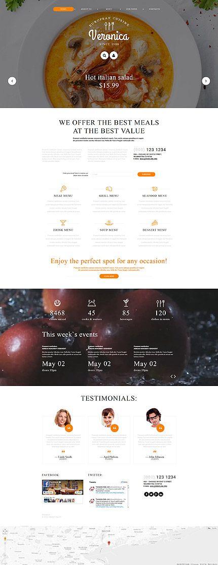 Dieses responsive #Joomla Template für #europäische Küche ist ein One-Stop-Shop für alle lebensmittel-bezogene Websiten.