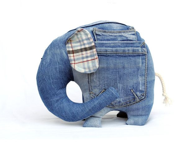 Left Pocket Elephant stuffed toy for kids by andreavida on Etsy, €22.00