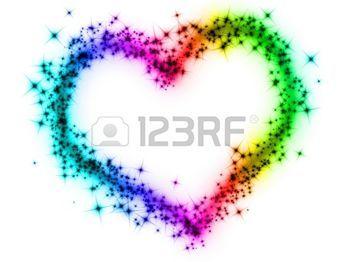 sparkle+heart%3A+regenboog+hart+Stockfoto