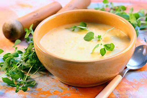 Суп со сладким картофелем и яблоком
